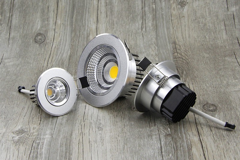[DBF] Silver Ultra gorgeous Dimmable LED COB Downlight AC110V 220V 6W9W12W15W Recessed LED Spot Light Decoration Ceiling Lamp (13)