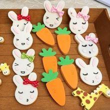 Голова пасхального кролика из нержавеющей стали формочка для печенья Форма для шоколада выпечки помадка, кондитерские изделия формы для печенья поделки своими руками