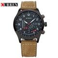 Nueva curren hombres de la marca top de cuero de cuarzo relojes de lujo relojes militares deportes impermeable relogio masculino 8152