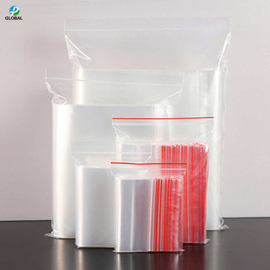 D&P A variety of Reusable Transparent Self Sealing Gifts/Cookie/Clothes/grocery storage pouch Clear zipper plastic packaging bag