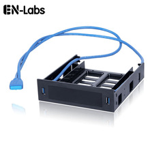 """エン Labs 2 × usb 3.0 フロントパネル w/3.5 """"デバイス/HDD または 2.5"""" SSD /hdd 5.25 フロッピーに光学ドライブベイトレイブラケットコンバータ"""