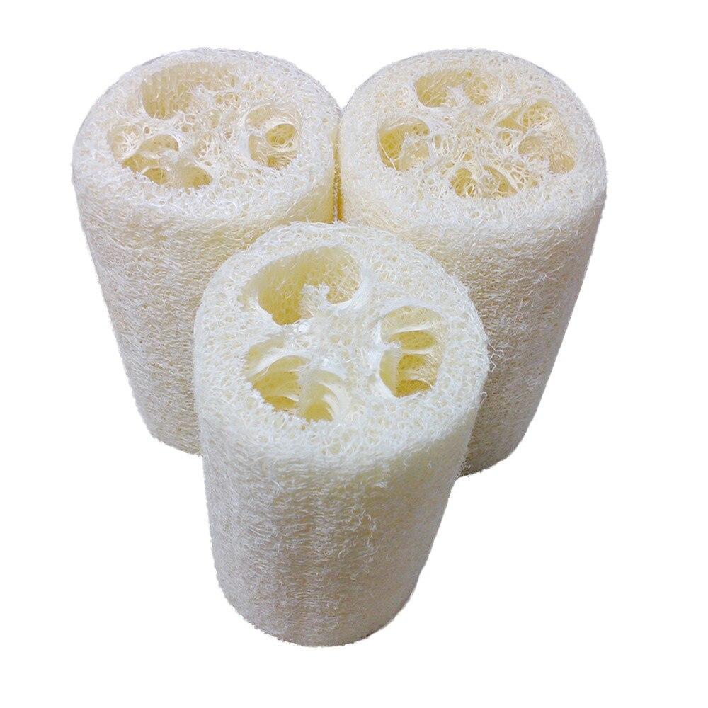 loofah New Natural Loofah Bath Body Shower Sponge Scrubber Pad Hot Body Scrub body brush badkamer accesoires#EW