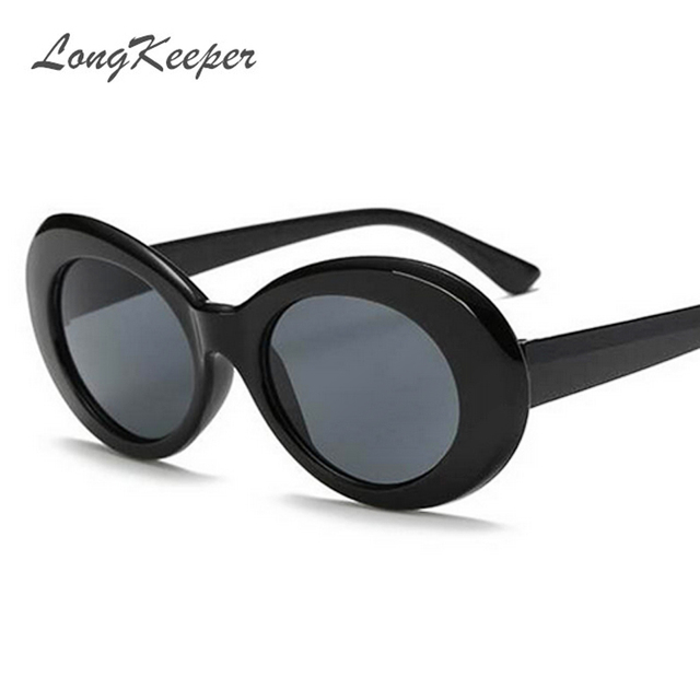 a983c7f8416d NIRVANA Kurt Cobain Sunglasses Brand Designer Women Oval Sun Glasses  Classic Harajuku Alien Men Vintage Retro