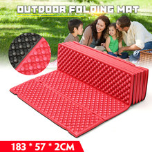 Outdoor Camping Mat Ultralight Foam Picnic Mat Folding Egg Slot Beach Mat Tent Sleeping Pad Moistureproof Camping Mattress(China)