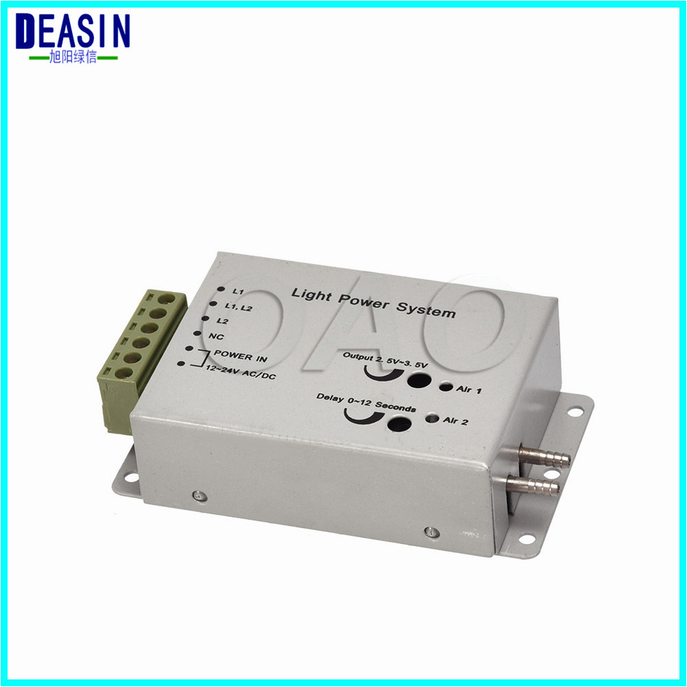 Good quality 2 PCS Dental Fiber Optic Handpiece Light Power control box