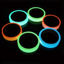 2018 Hot sales Reflective Glow Tape Self-adhesive Sticker Removable Luminous Tape Fluorescent Glowing Dark Striking Warning Tape(China)