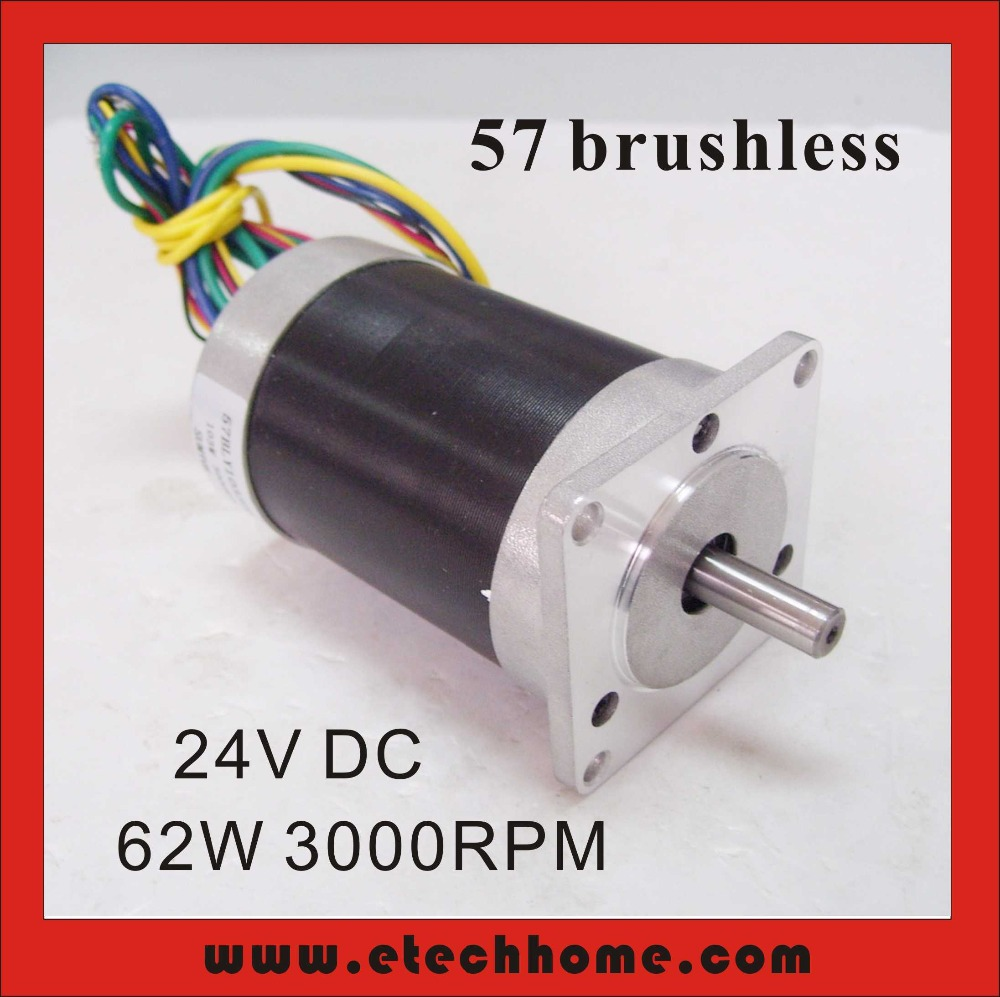 Free Shipping Brushless Dc Motor 24v 62w 3000rpm 57 Bldc