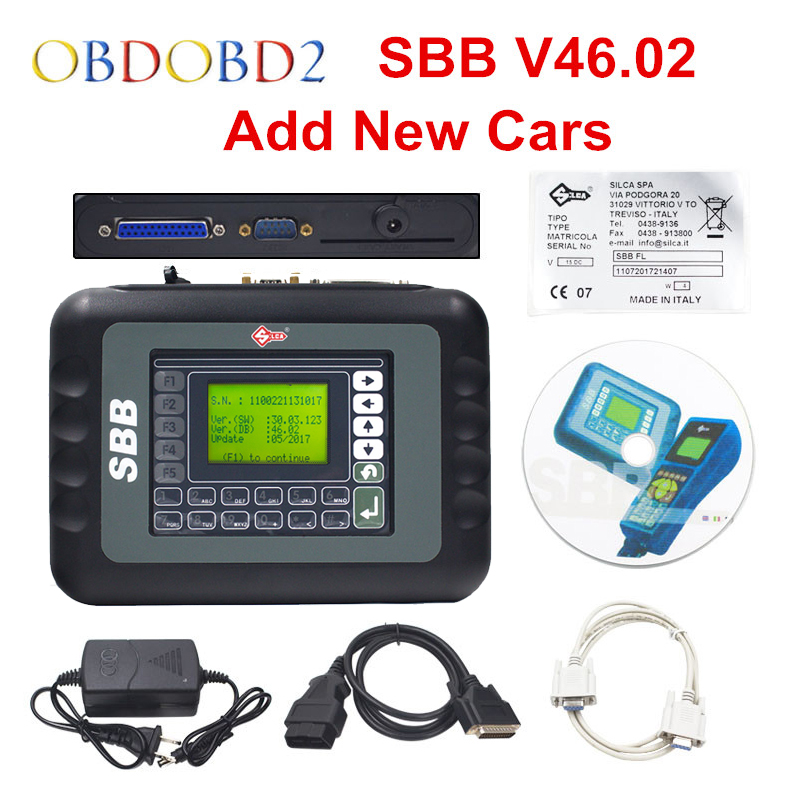 Newest V46.02 SBB Key Programmer Update Of Silca SBB V33.02 Key Transponder Same Function As CK100 46.02 Key Maker Free Ship