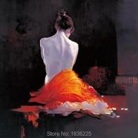 Pintado a mano de alta calidad sexy naked girls trasero chino sexy chica desnuda pintura al óleo mujeres caliente niña china arte original