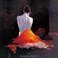 hand painted high quality sexy naked girls chinese sexy girl nude backside women oil painting hot chinese girl original art