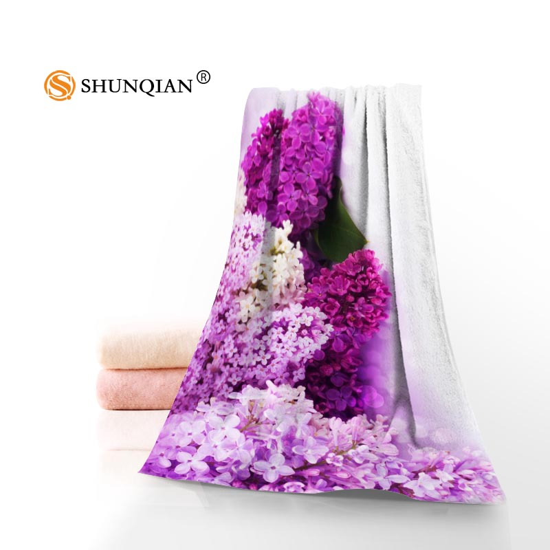 Lilac Flowers Towels Microfiber Bath Towels Travel,Beach,Face Towel Custom Creative Towel Size 35X75cm,70X140cm A8.8
