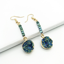 Youga new female drop earrings original design gallstone beads beaded multi-color mineral bohemian jewelry  women gift