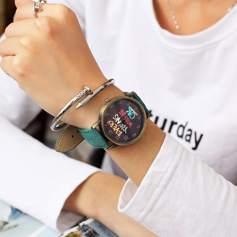 2018 New Simple Wrist Watch Women Ladies Quartz Wristwatch For Woman Clock Female Hour Unique Dial Design Hodinky Casual Style
