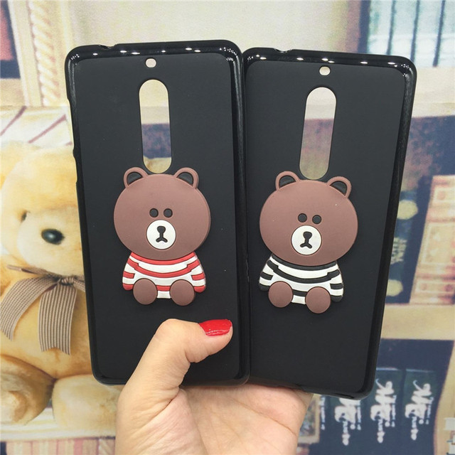 official photos c0592 c573a US $3.07 38% OFF|3D Soft Silicone Phone Case Cover for Nokia 5 Nokia5  Original Cute Back Covers Cartoon Cases Capa Funda Coque Shell Bag-in  Fitted ...