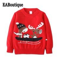 EABoutique Kid trai áo len cardigan cô gái mùa đông giáng sinh Dài tay áo Thời Trang Mô Hình Hươu len áo len cho em gái