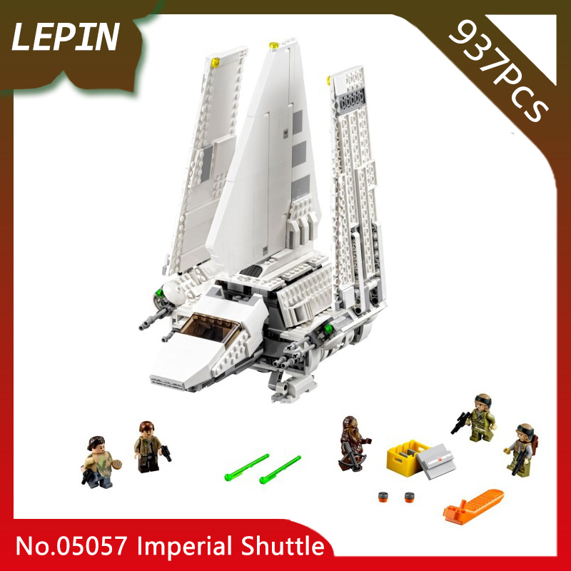Lepin 05057 SelfLocking Shuttle Tydirium Star Wars 937pcs Building Blocks Bricks Assembled for Children Toys LegoINGlys 75094 lepin 05057 937pcs star moc series war imperial shuttle tydirium building blocks bricks assembled children toys compatible 75094