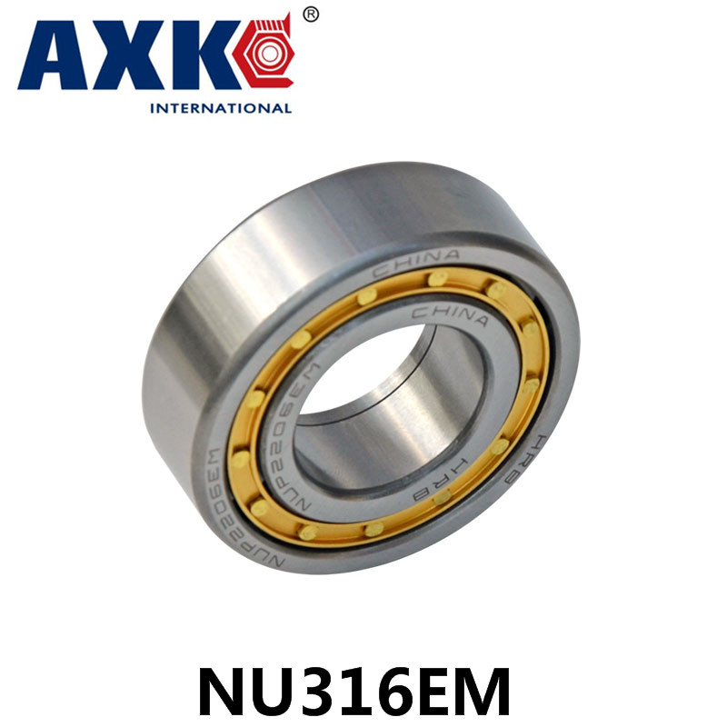 Axk Bearing Nu316em Cylindrical Roller Bearing 80*170*39mm na4910 heavy duty needle roller bearing entity needle bearing with inner ring 4524910 size 50 72 22