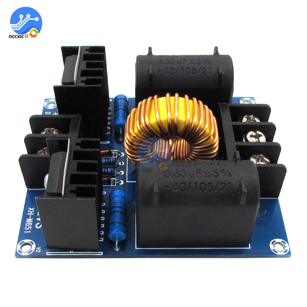 1000W DC 12V-30V 20A ZVS Tesla Flyback Driver Board Low Voltage Induction Heating Coil Module Heater For Arduino