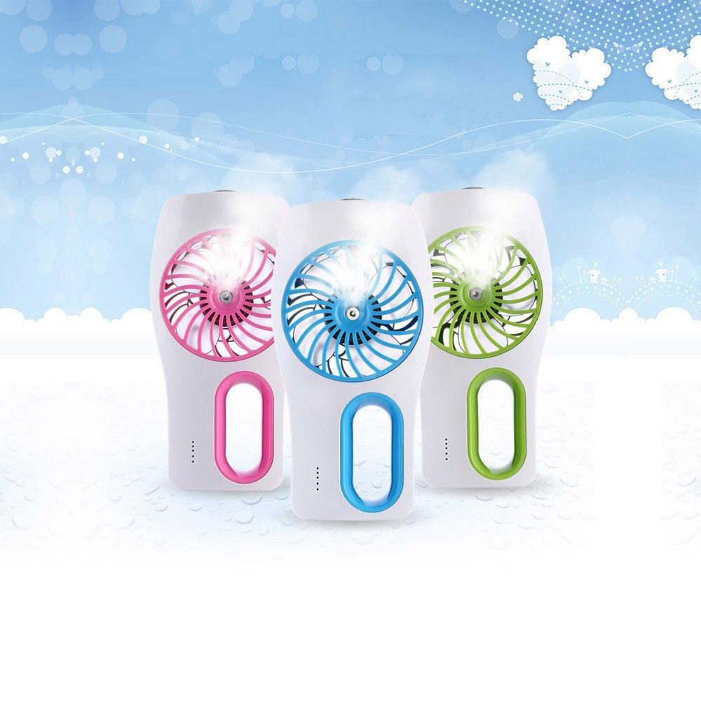 USB Mini Humidifier + Air Cooling Fan Mini Fans Office Air Diffuser Mist Maker DC 5V Pink/Blue/Green цена и фото