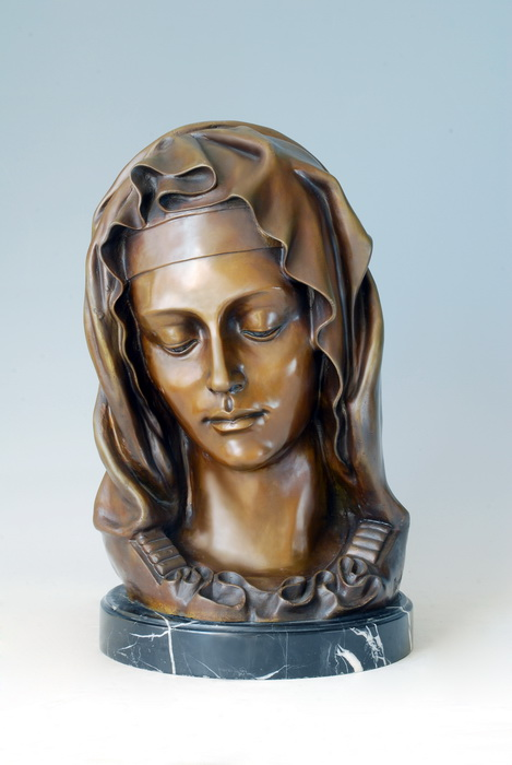 Lost Wax Figure Sculpture Bust Madonna Bronze Figurines