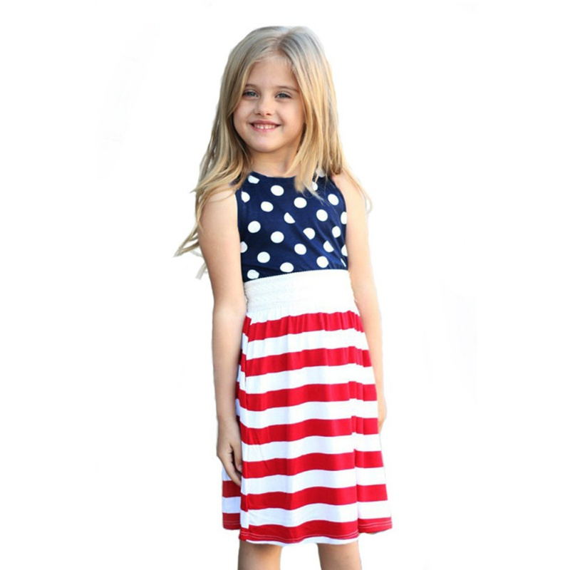 Girl Dress Summer Baby Girl Clothes Summer Dots Stripes Europe America Dresses for Girls Baby Clothes Fashion Dresses