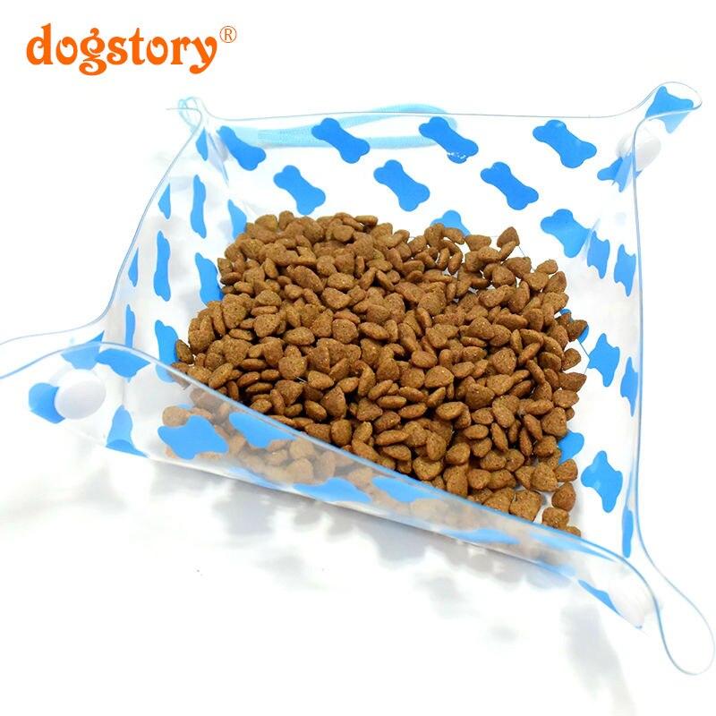 1 Piezas/Dogstory Nuevo Estilo Del Animal Doméstico Viajes Tazón Fuera Plegable