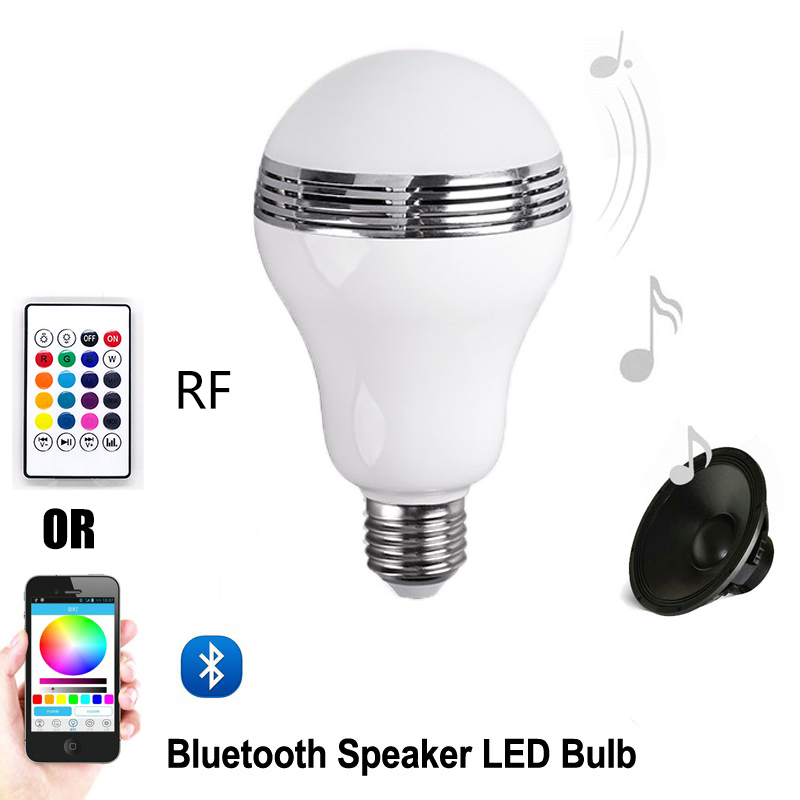 Urban Beauty Smart Led Bulb Bluetooth Speaker Led Rgb Light E27 Base Wireless Music Player With