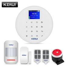 Новый KERUI W17 EN RU ES DE IT FR переключаемая GSM Wifi система сигнализации для дома в комплект сигнализации с Android Ios APP Control