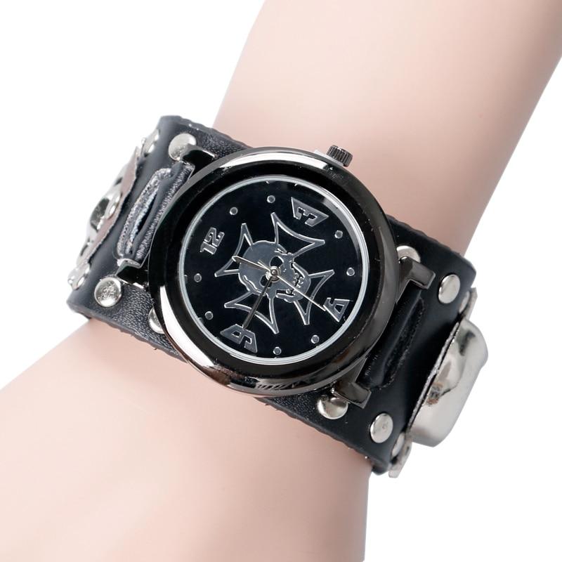Rock Men Gift Modern Punk Women Gothic Style Accessories Sport Quartz Rock Wrist Watch Skull Fashion Men Relogio Masculino