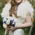 Warm Winter Ostrich Feather Bridal Jackets 2017 Women Shrug Wedding Coats Boleros Cape Wedding Accessories bridal party shawls