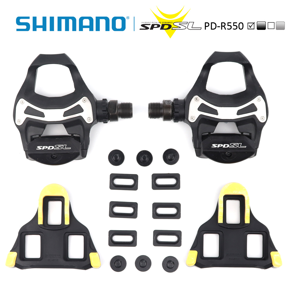 For Road Bike bike PD R540 SPD SL pedal Clipless racing Pedals Float Cleats