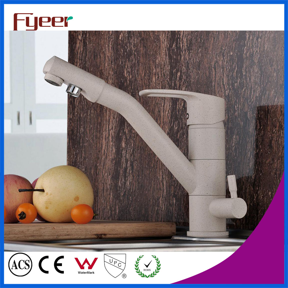 Free Shipping  Brass 3 way kitchen Sink faucets Hot and Cold Kitchen Filter Tap Painted Water Purifier Faucet