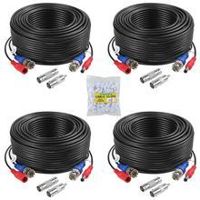 ANNKE 4 pcs confezionato colore bianco/nero 30M /100 piedi BNC DC Plug cavo di alimentazione Video telecamera CCTV DVR sistema di sorveglianza di sicurezza