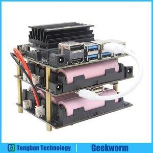 NVIDIA Jetson Nano 18650 UPS HAT Shield 5.1V 8A Output, T200 Power Management Board for NVIDIA Jetson Nano Developer Kit(China)
