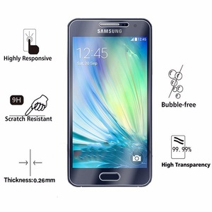 Image 2 - 2PCS Tempered Glass For Samsung Galaxy A3 2015 Screen Protector for Samsung A3 2015 Film For Samsung Galaxy A3 2015 Glass HATOLY
