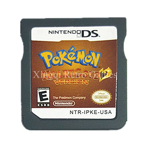 Nintendo DS Game Pokemon Heartgold Video US English Language Version