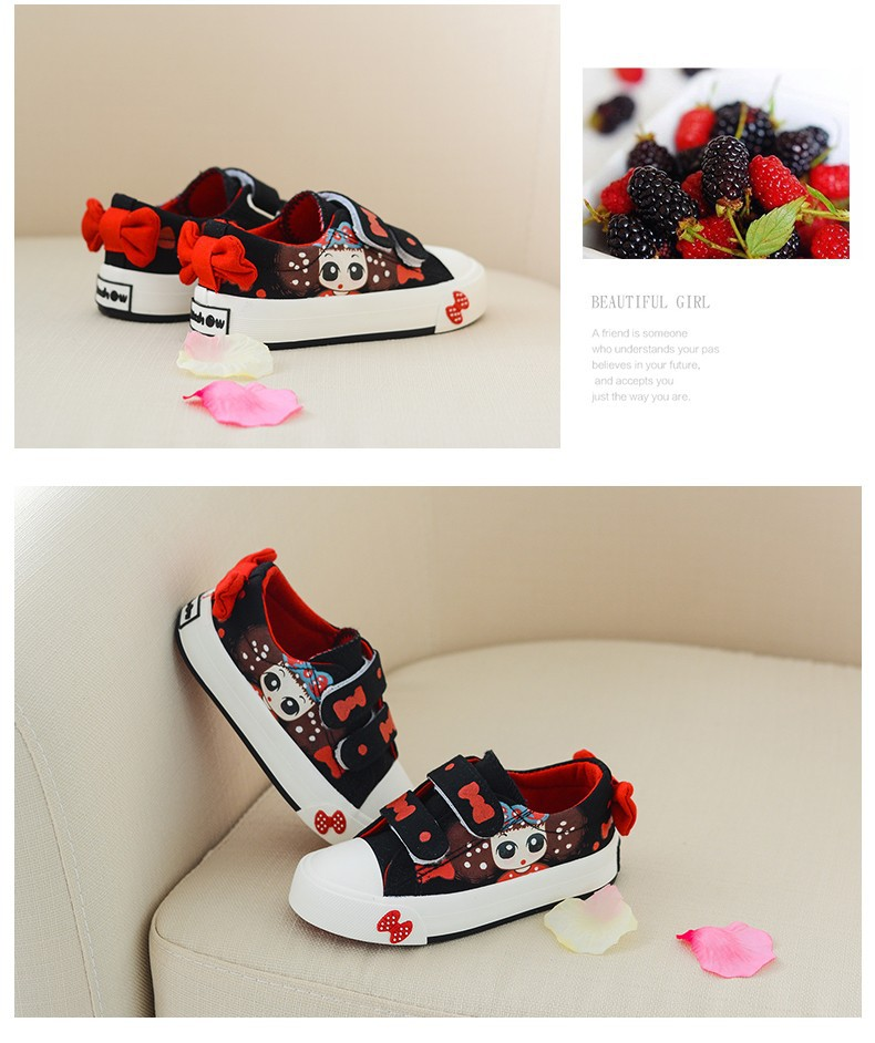 Canvas Children Shoes 17 New Baby Girls Princess Shoes Brand Kids Sneakers for Girls Denim Child Flat Toddler Shoes 15