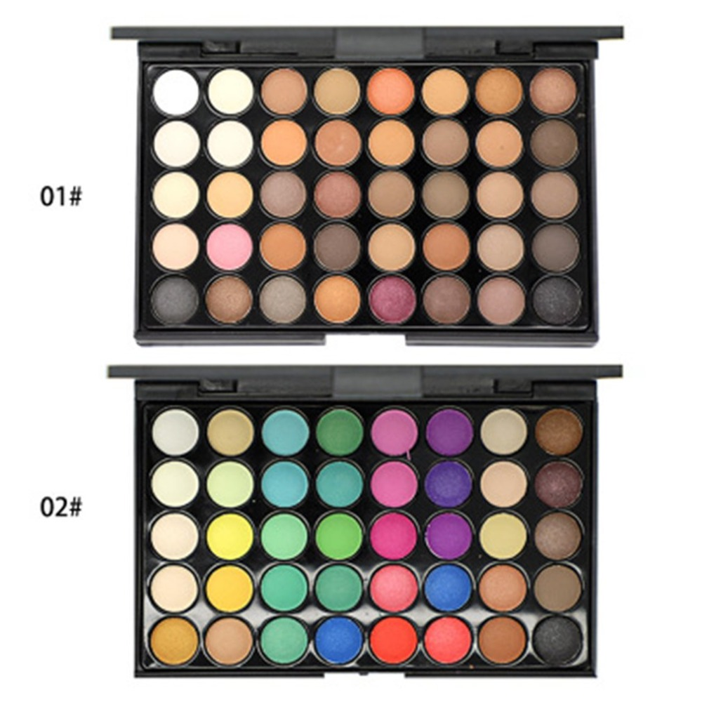 40 Colors Eyeshadow Palette Makeup Waterproof Smoky