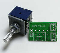 1pc Japan ALPS RK27 50KAX2/100KAX2 8pin with Loudness Volume LOG Stereo Potentiometer 2-gang Dual 50K/100K Knurled Shaft+PCB