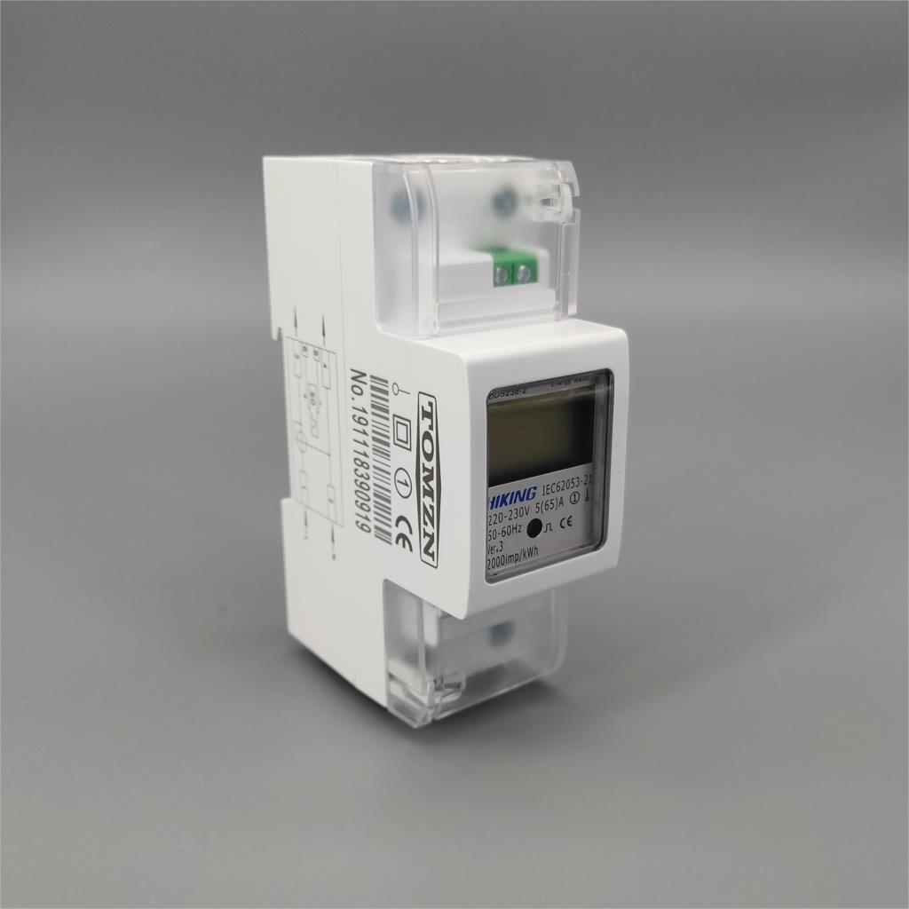 5 (65) A 65A 220 V 230 V 60 HZ 50 HZ DDS238-2 monophasé Din rail KWH Watt heure din-rail compteur d'énergie LCD