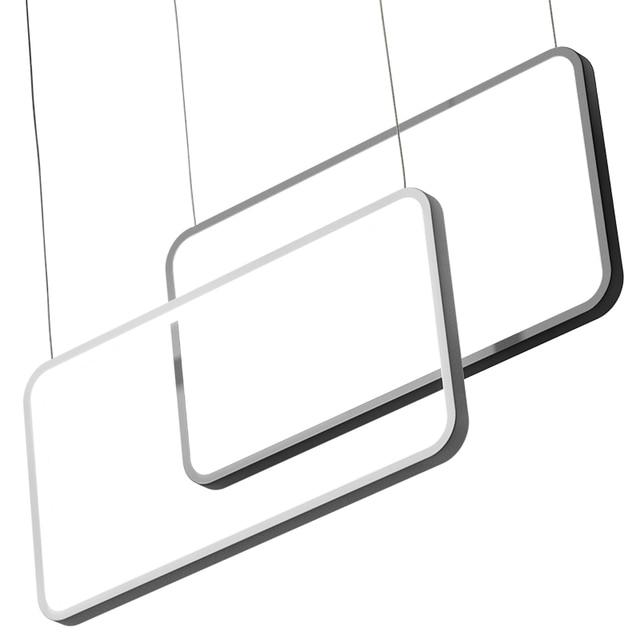 Postmodern Minimalist Chandelier Rectangular Pendant Lights