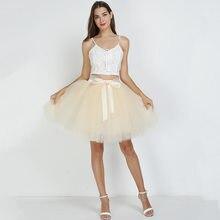 5389e8ed55 Women's High Waist Princess Tulle Skirt Adult Dance Petticoat A-line Wedding  Party Tutu 7 Layers Midi Lolita Faldas Saia