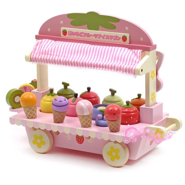 Helados de frutas cesta de madera cocina casa un juego de niños ...