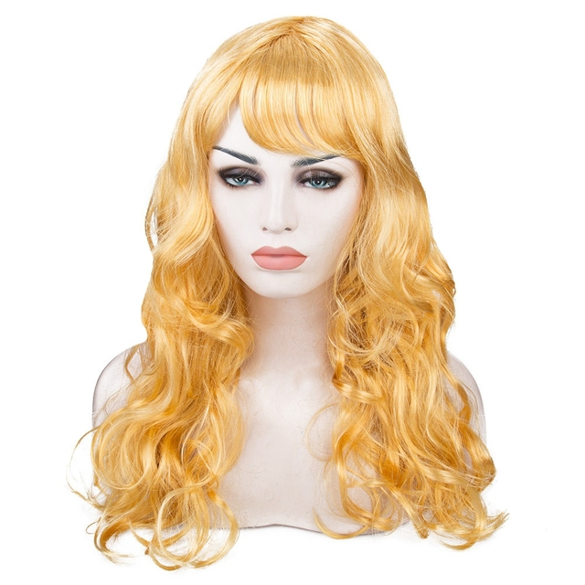 Long Big Wavy Wig Hair With Breathable Hairnet