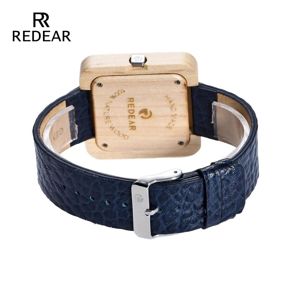 REDEAR Zegarki Bambusowe zegarki dla mężczyzn Kobiety Zegarki - Zegarki damskie - Zdjęcie 3