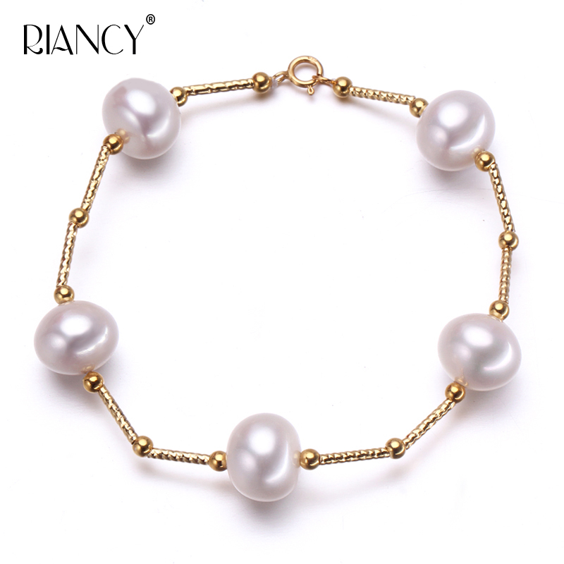 Fashion Charm Bracelet Natural Freshwater white Pearl Bracelet Pearl Jewelry for Women wedding giftFashion Charm Bracelet Natural Freshwater white Pearl Bracelet Pearl Jewelry for Women wedding gift