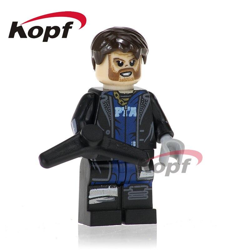 Один Продажа X-человек Капитан Бумеранг Каратель Wolverine строительные блоки Super Heroes кирпича обучающие игрушки для детей PG210