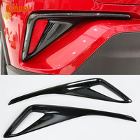 Carbon fiber style After the fog lamp decoration cover Car Accessories For Toyota CHR C HR 2017 2018
