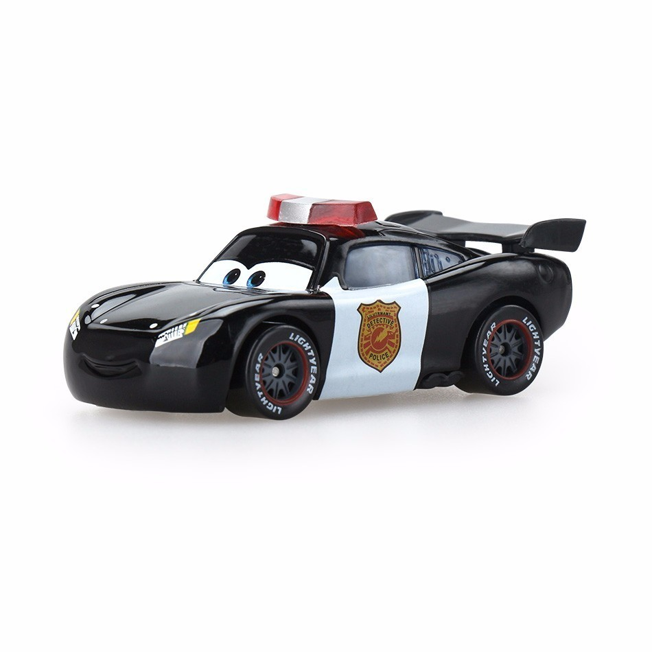 Disney Pixar Police Car Lightning Mcqueen Mater Jackson Storm Ramirez Diecast Vehicle Metal Alloy Boy Kid Toys Christmas Gift