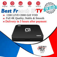 S905 Android tv box French Arabic Spain Belgium iptv subscription channels 1200 Live+VOD support smart tv m3u mag ios NEO iptv